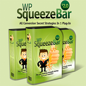Plugins to maximize conversions use and download WP Squeeze Bar 2.0