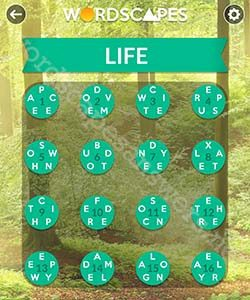 wordscapes answers life