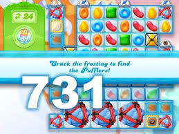Game Candy Crush Jelly Saga level 731